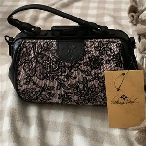 Lace front crossbody